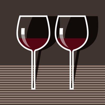 Canvas print Wineglasses