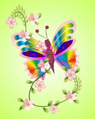 Canvas print wiosenny motyl