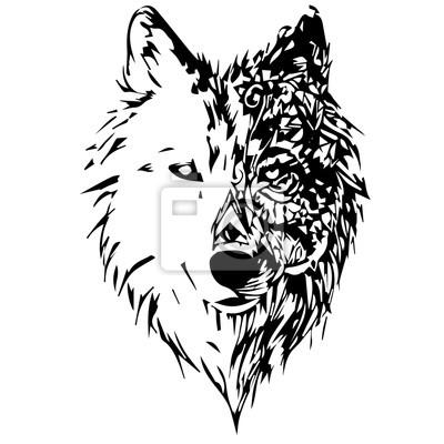 Canvas print wolves