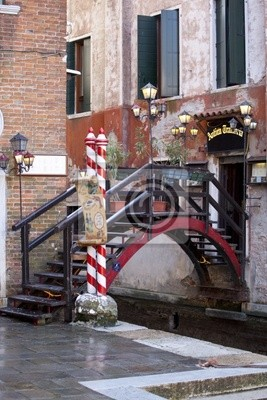Wooden bridge, Venice