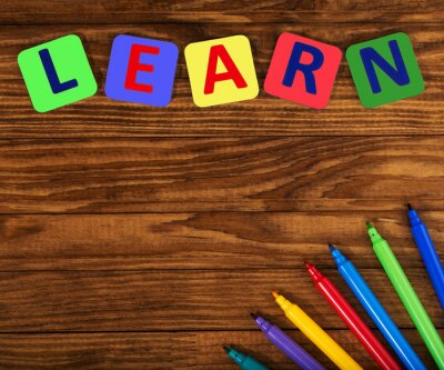 Canvas print word learn