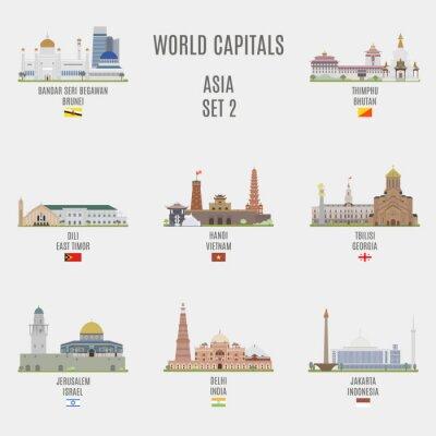 Canvas print World capitals