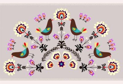 Canvas print Wzór z ptakami