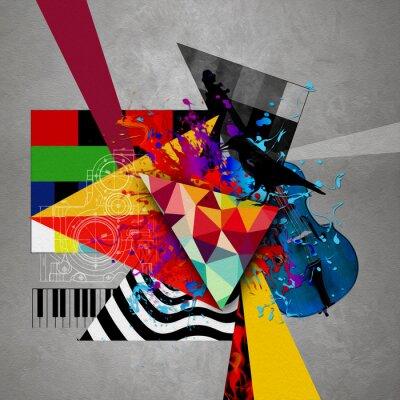 Canvas print абстрактная обложка музыкального диска