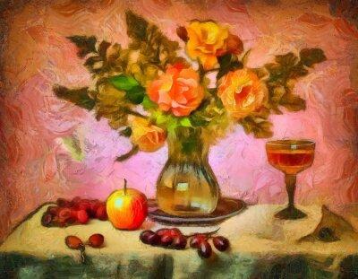 Canvas print натюрморт с розами