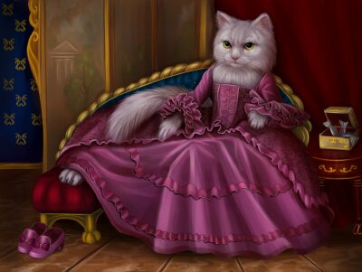 Canvas print Кошка графиня