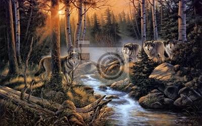Canvas print Стая волков