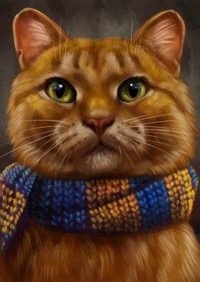Canvas print Рыжий кот