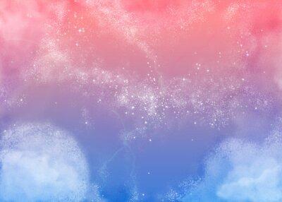Canvas print ふわふわピンクの空 Fluffy Pink Sky