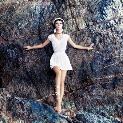 Canvas print  sensual girl on the rocks