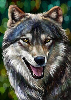 Canvas print Волк