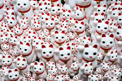 Canvas print Goutokuji-temple Beckoning cat,tokyo,japan(豪徳寺の招き猫)