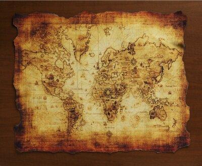Canvas print 宝の地図/古い地図