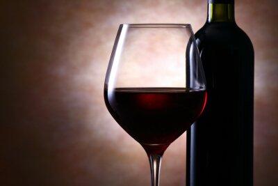 Canvas print ワインボトルと赤ワイン