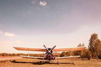 Canvas print Old plane. Вiplane.
