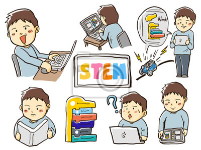 Canvas print stem教育子供プログラミング