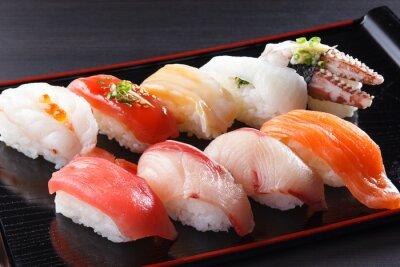 Canvas print にぎり寿司の盛り合せ