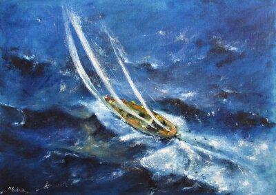 Canvas print Yachting V