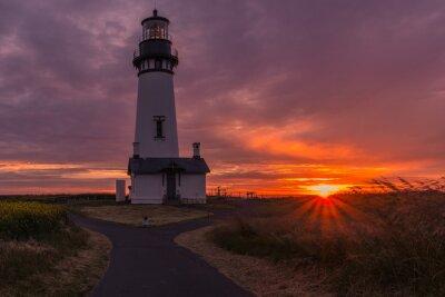 Canvas print Yaquina Head lighthouse