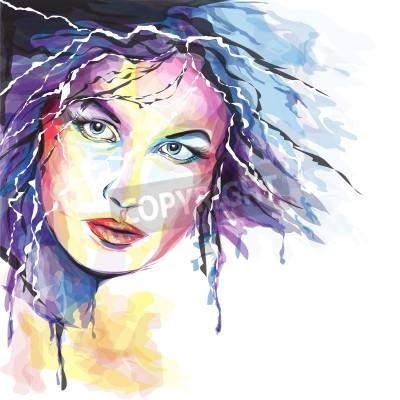 Canvas print Young woman portait