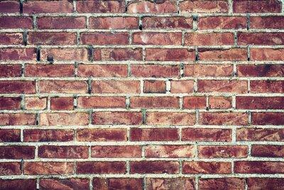 Canvas print Zbliżenie na stary mur z cegieł