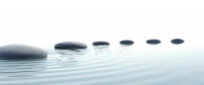 Canvas print Zen path of stones in widescreen