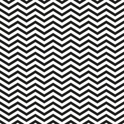 Canvas print Zigzag pattern with black lines stylish illustration