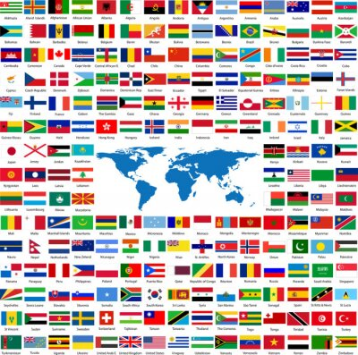 Flags From All Over The World Laptop Stickers Stickers