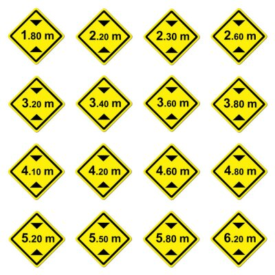 Wall mural 16 height limitation traffic sign