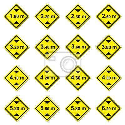 16 height limitation traffic sign