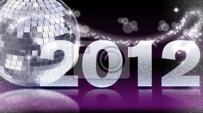 2012 Lila - Diskokugel