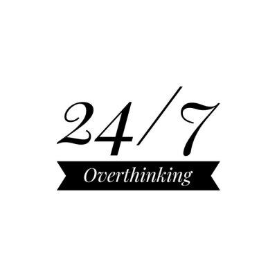 Wall mural ''24/7 Overthinking'' Lettering