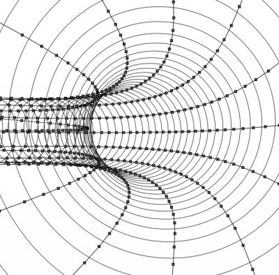 3d Abstract Tunnel Or Tube Wall Mural Murals Hole Wireframe Pipe