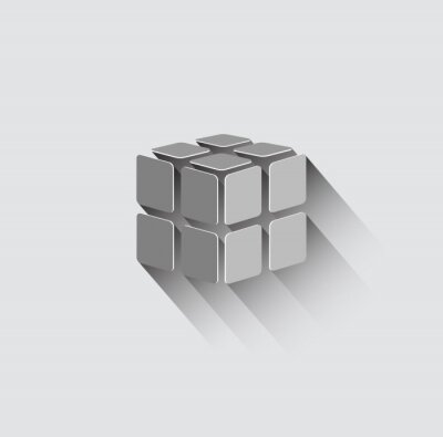 Wall mural 3D cube icon