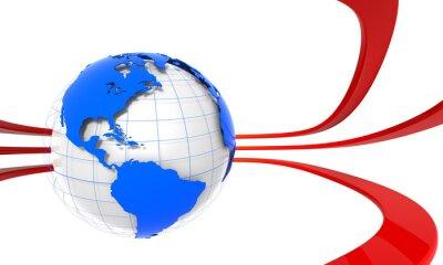 3D Globe Americas
