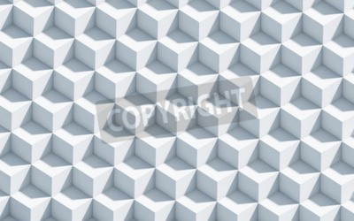 Wall mural 3d monochrome background with cubes, art, concept, background
