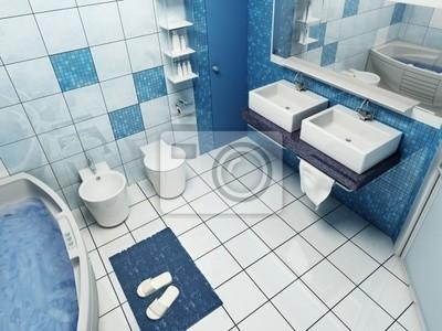 3d rendering of the modern bathroom