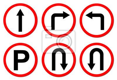 6 red circle traffic sign