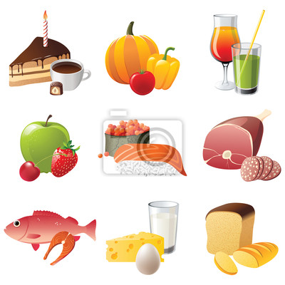 9 highly detailed food icons