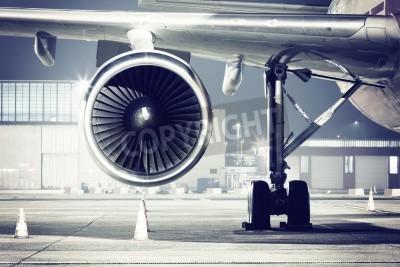 Wall mural a airplane turbine detail