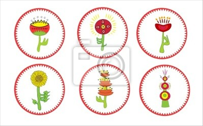 A collection of flowers. Vector illustration