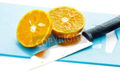 A half of orange fruit in the kitchen