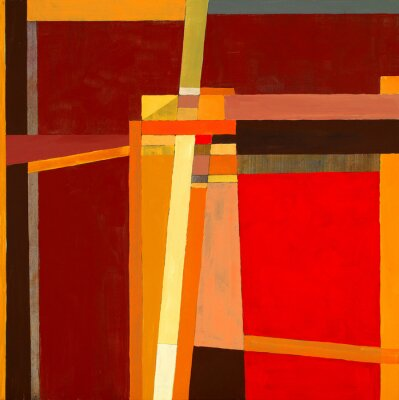 Wall mural a modernist abstract painting