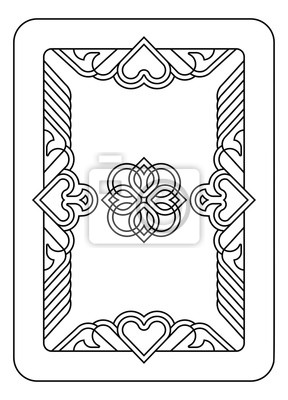 A playing card Reverse Back in Black and White from a new modern original complete full deck design. Standard poker size.