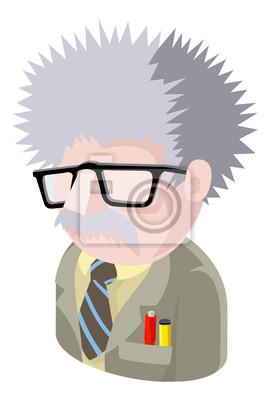 A Science Geek man avatar cartoon person icon emoji