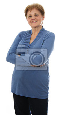 a senior woman - over sixty years old