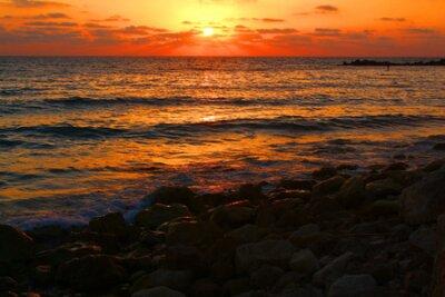 A shoot of Haifa coast at sunset, Israel