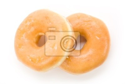 a sweet donut with white background