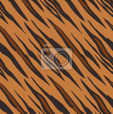 A tiger animal print seamless pattern tile background