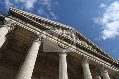 A view of the upper side of the Pantheon in Paris
